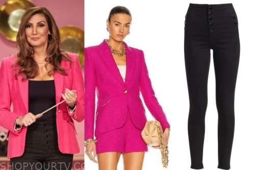 heather mcdonald, the bachelorette, hot pink blazer, black button jeans