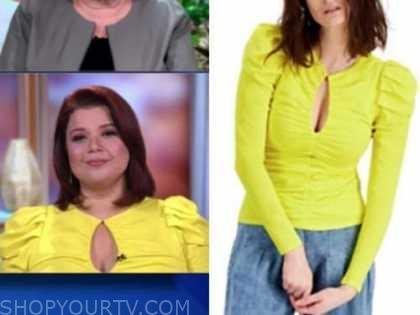 ana navarro, the view, yellow puff sleeve top,