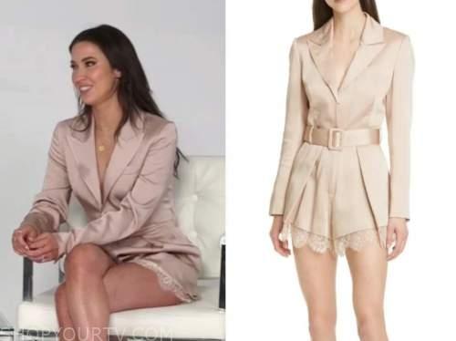 kaitlyn bristowe, E! news, daily pop, beige satin blazer lace romper
