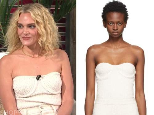 madeline brewer, E! news, daily pop, white bustier top