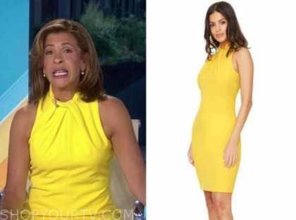 hoda kotb, the today show, yellow halter dress