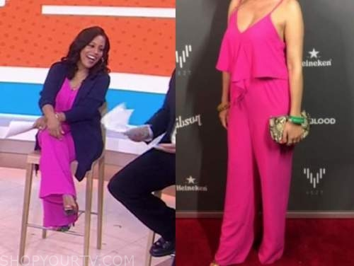 sheinelle jones, the today show, pink jumpsuit