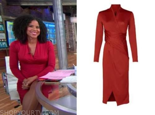 adriana diaz, cbs this morning, red dress