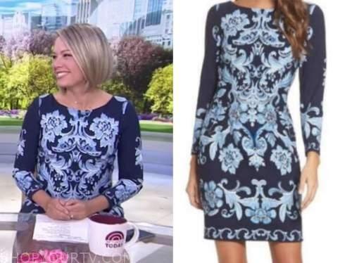 dylan dreyer, the today show, blue floral dress