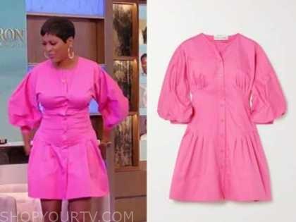 tamron hall, tamron hall show, pink shirt dress