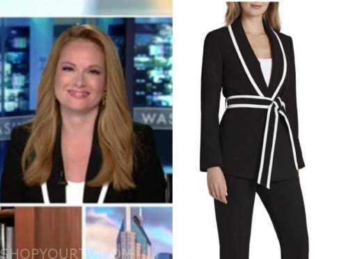 outnumbered, gillian turner, black and white contrast trim jacket
