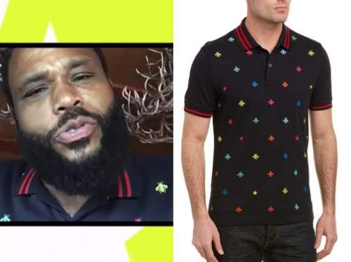 anthony anderson, access daily, bee polo shirt