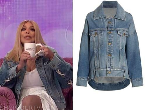 wendy williams, the wendy williams show, denim lace-up jacket