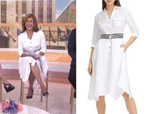 hoda kotb, the today show, white shirt dress