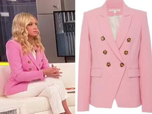 kayleigh mcenany, outnumbered, pink double breasted blazer
