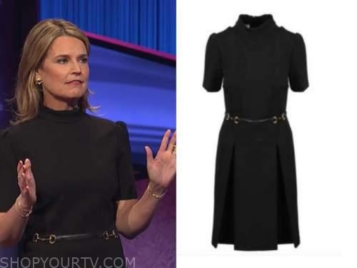 savannah guthrie, jeopardy, black belted dress