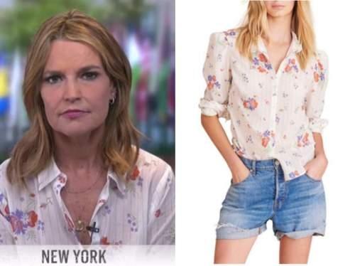 savannah guthrie, the today show, floral shirt