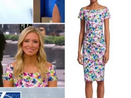 kayleigh mcenany, outnumbered, floral off-the-shoulder dress