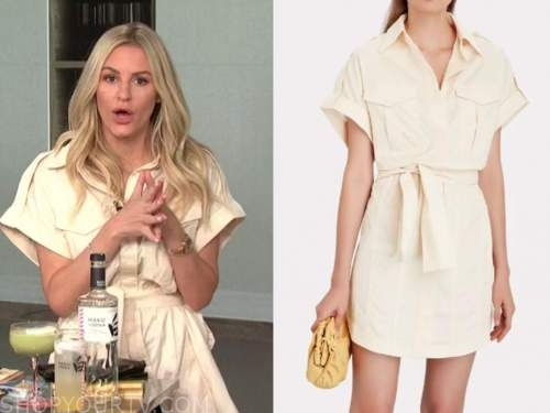 morgan stewart, E! news, daily pop, ivory cargo mini dress