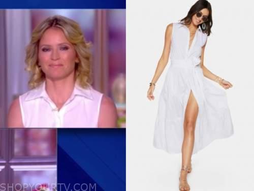 sara haines, the view, white shirt dress