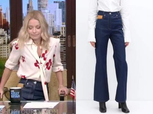 kelly ripa, live with kelly and ryan, dark denim jeans