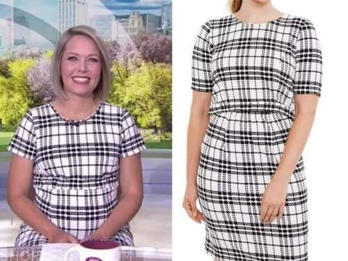 dylan dreyer, the today show, plaid maternity dress