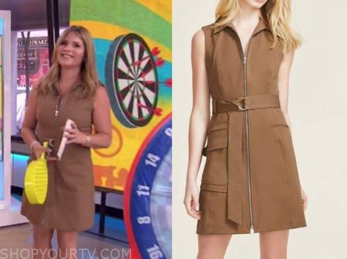 jenna bush hager, the today show, brown camel dress