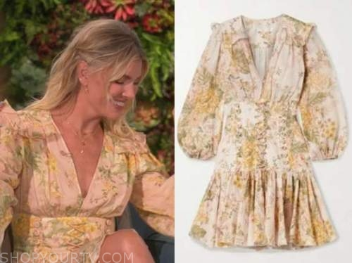 amanda kloots, the talk, floral lace-up dress