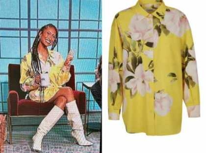 the talk, elaine welteroth, yellow floral shirt