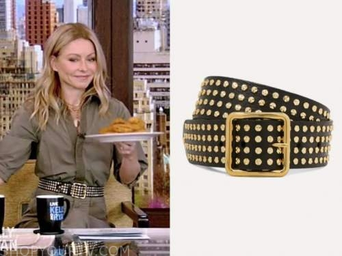 kelly ripa, live with kelly and ryan, black studded belt