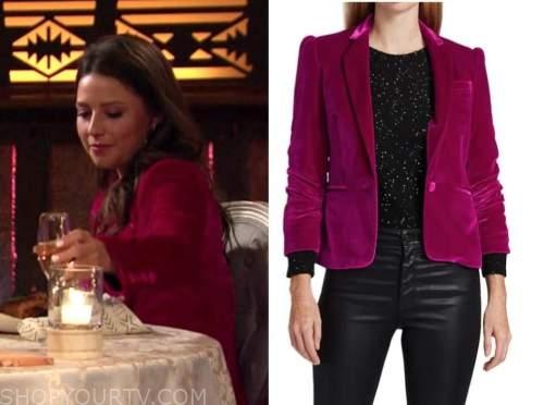 katie thurston, pink velvet blazer, the bachelorette