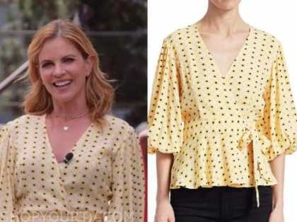 natalie morales, the today show, yellow floral wrap top