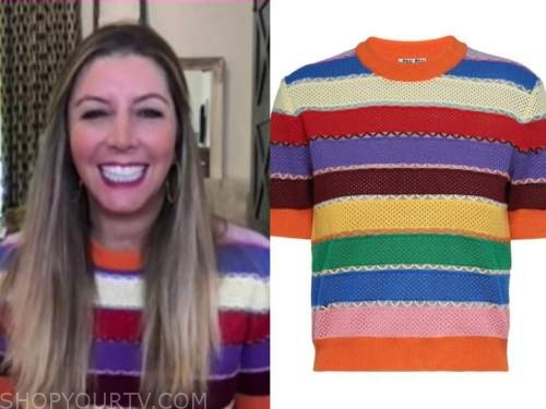 sara blakely, the today show, striped knit top