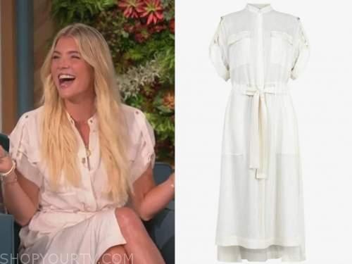 amanda kloots, the talk, white shirt dress