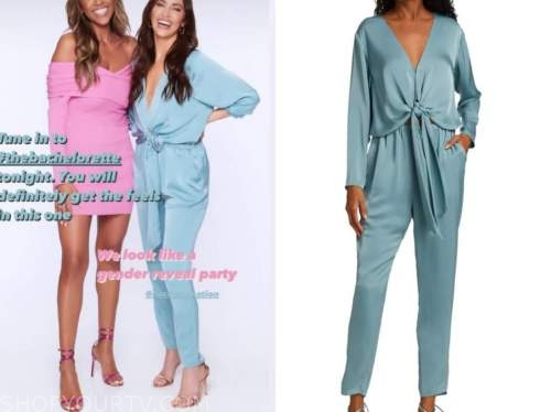 kaitlyn bristowe, the bachelorette, blue silk jumpsuit