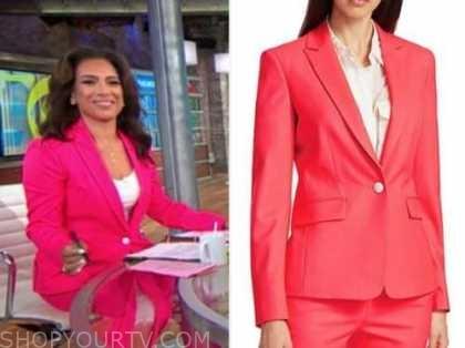 michelle miller, pink blazer, cbs this morning