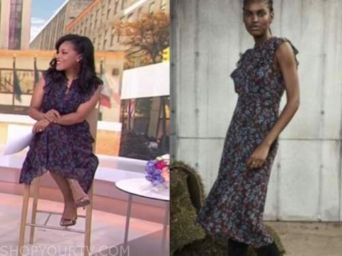 sheinelle jones, the today show, floral midi dress