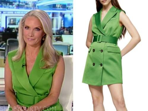 dana perino, america's newsroom, green vest dress