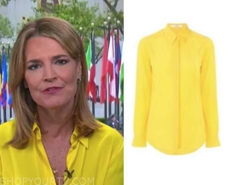 savannah guthrie, the today show, yellow shirt