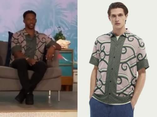 victor cruz, the talk, jacquard shirt