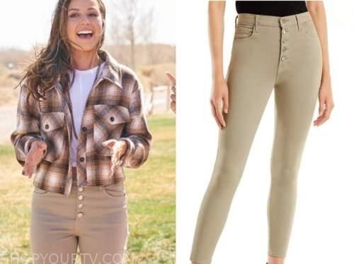katie thurston, the bachelorette, beige skinny jeans