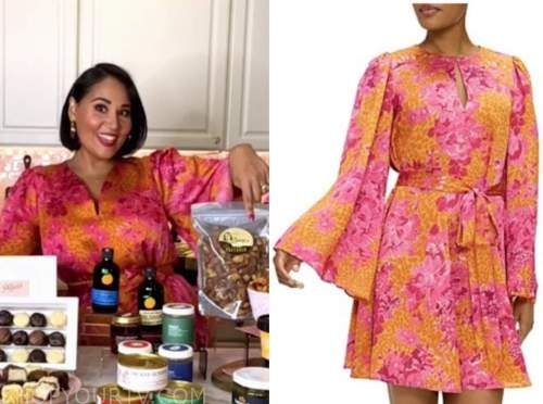 alejandra ramos, the today show, orange and pink floral dress
