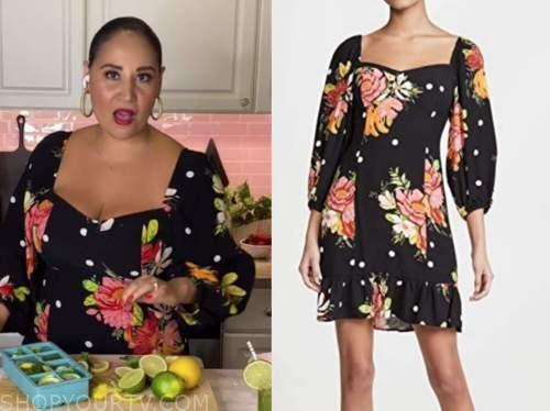 alejandra ramos, the today show, black polka dot floral dress