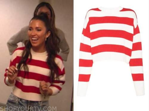 kaitlyn bristowe, the bachelorette, red and white striped sweater
