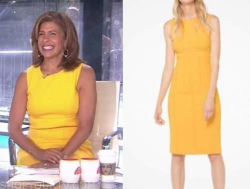 hoda kotb, the today show, yellow sheath dress