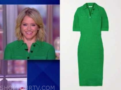 the view, sara haines, green knit polo dress