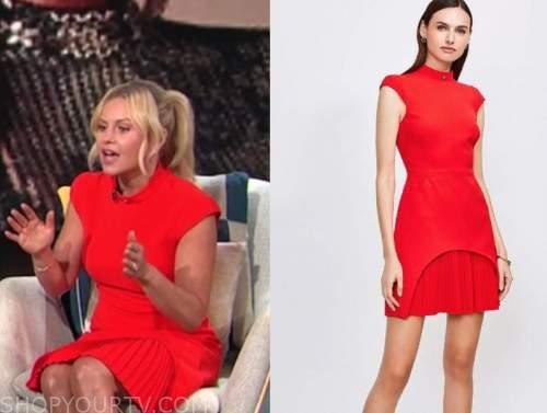 candace cameron bure, e! news, daily pop, red pleated dress