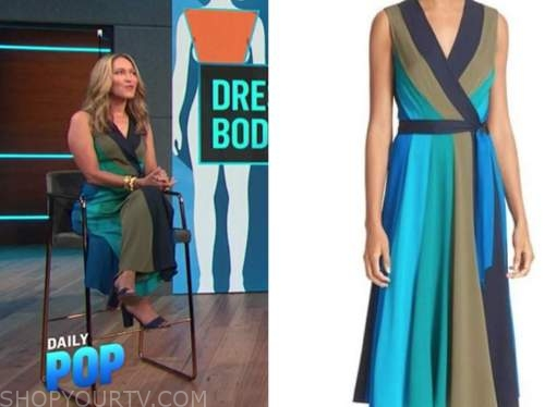 alison deyette, E! news, daily pop, striped wrap dress