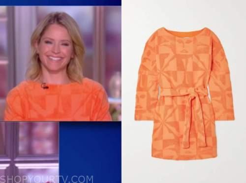 sara haines, orange dress, the view