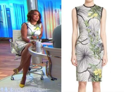 gayle king, cbs this morning, floral sheath dress
