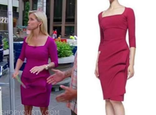 ainsley earhardt, fox and friends, pink dress