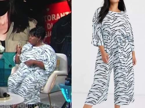 loni love, e! news, daily pop, zebra print jumpsuit