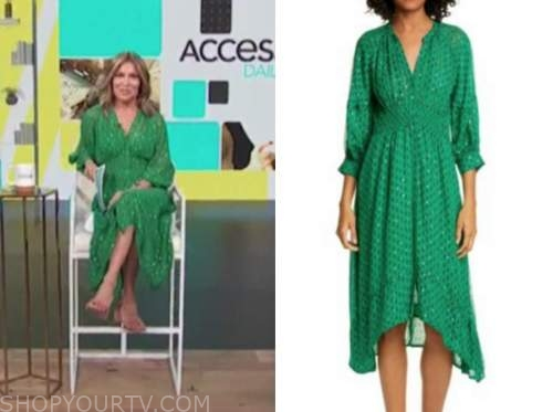 kit hoover, access daily, green dress