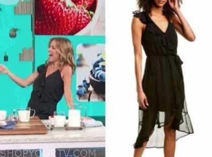 kit hoover, access daily, black ruffle dress