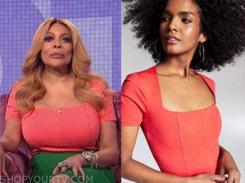 wendy williams, the wendy williams show, coral bodysuit top